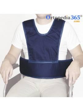 Chaleco abdominal con tirantes para sillas de ruedas