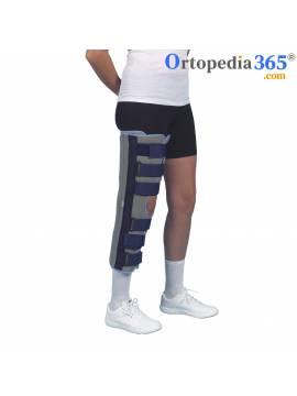 Inmovilizador de rodilla diseñado en 3 piezas con velcro