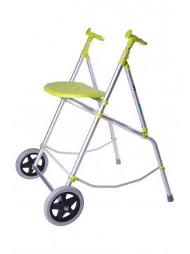 Andador de 2 ruedas ARA Aluminio Plegable y Altura Ajustable