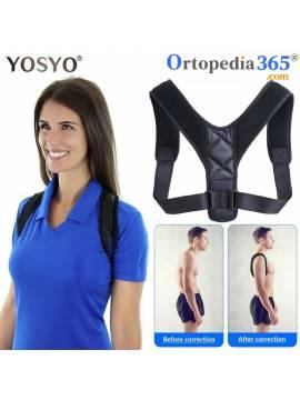 Corrector de postura de espalda ajustable, postura Lumbar...